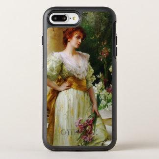 Femme avec des beaux-arts d'iris coque otterbox symmetry pour iPhone 7 plus