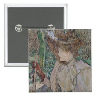 Femme avec des gants, 1891 badge