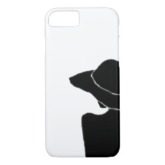 Femme avec le casquette coque iPhone 7
