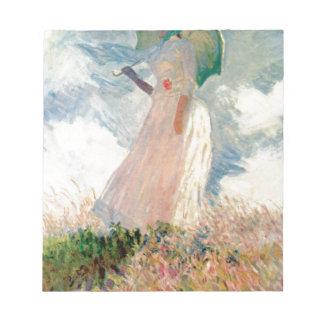 Femme avec un parasol - Claude Monet Bloc-note