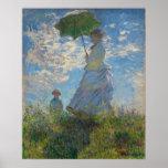 Femme avec un parasol par Claude Monet Posters