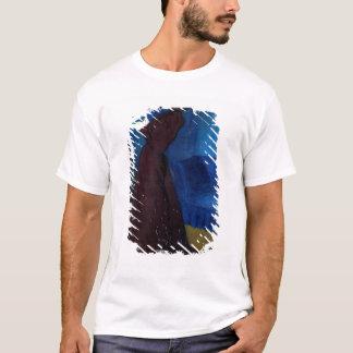 Femme avec une cage à oiseaux t-shirt