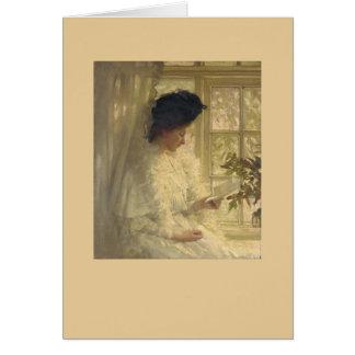Femme dans le blanc cartes