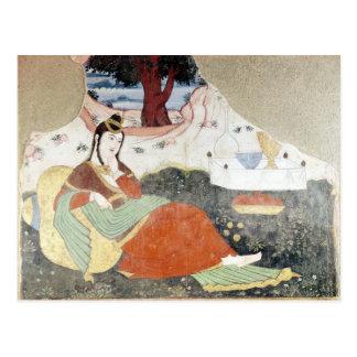 Femme dans le jardin de Shah Abbas I Carte Postale