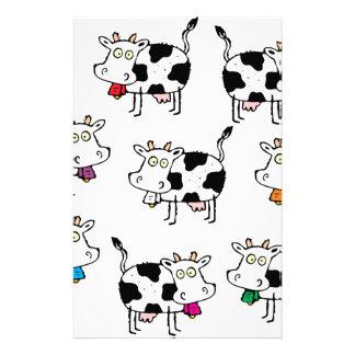 Femme de 8 vaches papier à lettre