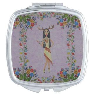 Femme de cerfs communs (série de mode de conte de miroirs de poche