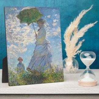 Femme de Claude Monet | avec un parasol Plaque Photo