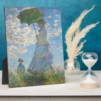 Femme de Claude Monet | avec un parasol Plaques D'affichage