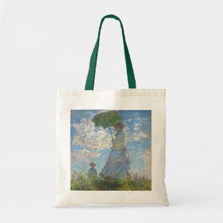 Femme de Claude Monet | avec un parasol Sac Fourre-tout