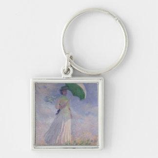Femme de Claude Monet | avec un parasol tourné à Porte-clés