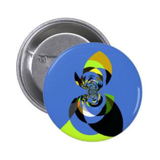 Femme de couleurs badge rond 5 cm
