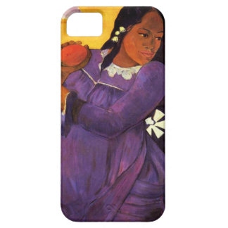Femme de Gauguin avec un cas de l'iPhone 5 de mang Étui iPhone 5