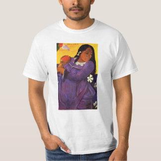 Femme de Gauguin avec une mangue T-shirts
