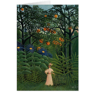 Femme de Henri Rousseau- marchant dans une forêt Cartes