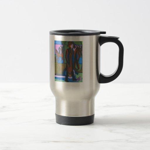 Femme de marche d'Ernst Ludwig Kirchner avec le ch Tasse À Café