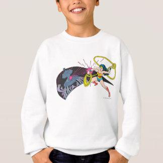 Femme de merveille contre le robot sweatshirt