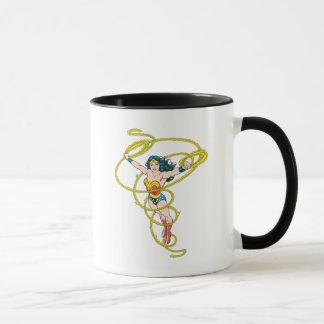 Femme de merveille dans le lasso mug