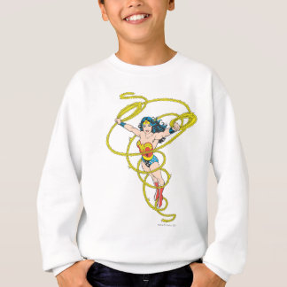 Femme de merveille dans le lasso sweatshirt