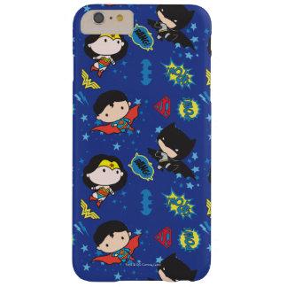 Femme de merveille de Chibi, Superman, et motif de Coque Barely There iPhone 6 Plus