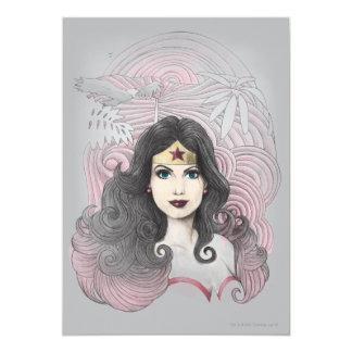 Femme de merveille Eagle et arbres Carton D'invitation 12,7 Cm X 17,78 Cm