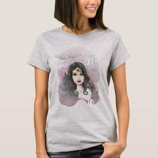 Femme de merveille Eagle et arbres T-shirt