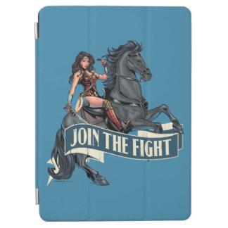 Femme de merveille sur l'art comique de cheval protection iPad air