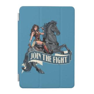 Femme de merveille sur l'art comique de cheval protection iPad mini