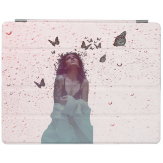 Femme de papillon protection iPad