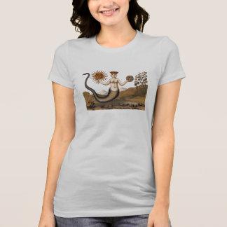 Femme de serpent d'alchimie avec trois visages t-shirt