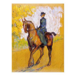 Femme de Toulouse-Lautrec sur la carte postale de