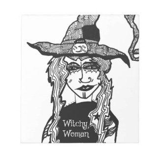 Femme de Witchy Bloc-note