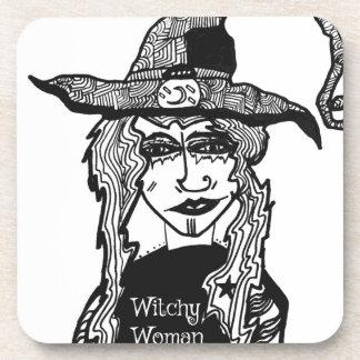 Femme de Witchy Dessous-de-verre