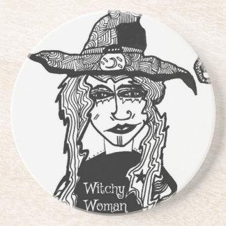Femme de Witchy Dessous De Verre En Grès