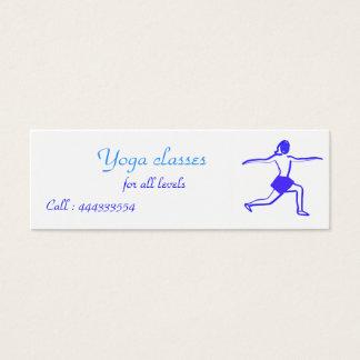 femme de yoga mini carte de visite
