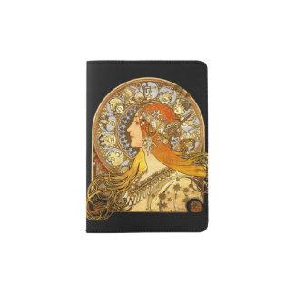 Femme de zodiaque de Mucha Protège-passeport