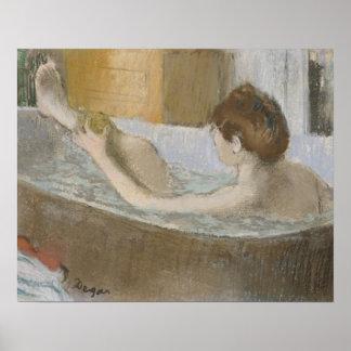 Femme d'Edgar Degas | à son Bath, épongeant sa Poster