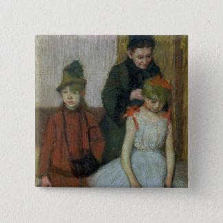 Femme d'Edgar Degas | avec deux petites filles Pin's