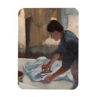 Femme d'Edgar Degas   repassant, c.1876-87 Magnet Flexible