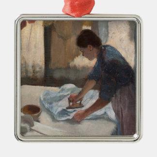 Femme d'Edgar Degas | repassant, c.1876-87 Ornement Carré Argenté