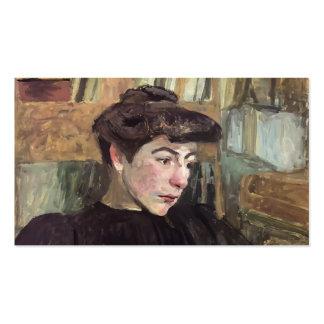 Femme d'Edouard Vuillard- avec les sourcils noirs Carte De Visite