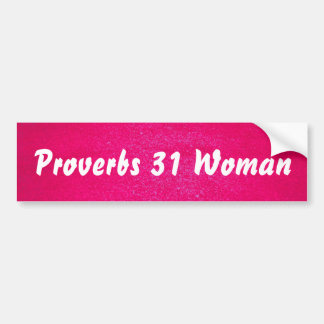 Femme des proverbes 31 (arrière - plan rose) autocollant de voiture