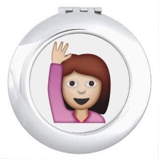 Femme disant le bonjour - Emoji Miroirs De Voyage