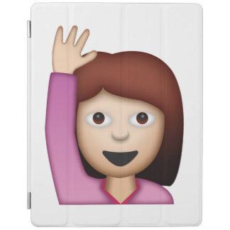Femme disant le bonjour - Emoji Protection iPad