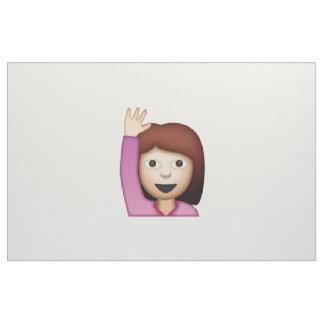 Femme disant le bonjour - Emoji Tissu