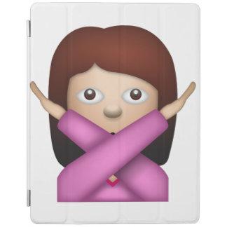 Femme disant NO- Emoji Protection iPad