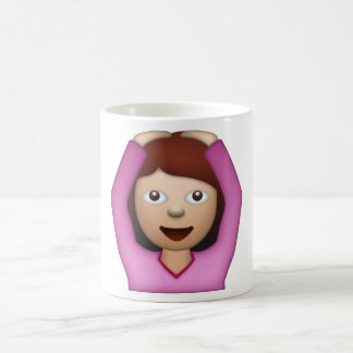 Femme disant oui - Emoji Mug