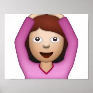 Femme disant oui - Emoji Poster