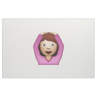 Femme disant oui - Emoji Tissu