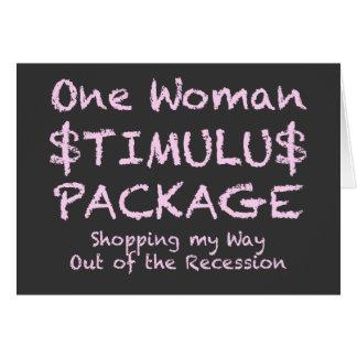 Femme drôle de Shopaholic qui aime faire des Carte De Vœux