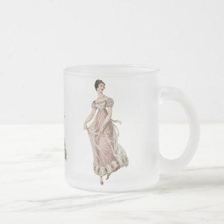 Femme du 19ème siècle vintage mug en verre givré